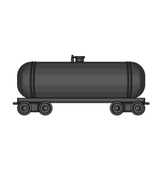 Railway tank caroil single icon in cartoon style vector