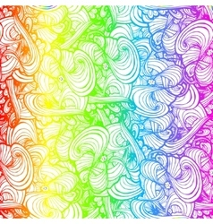 Rainbow colored doodle style ornament vector image