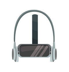 Reality virtual helmet headphones device image vector