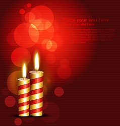 Red candles vector