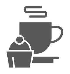 restaurant glyph icon food and drink cup and vector image