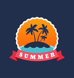 Retro Summer Holidays Vintage Label Design vector image