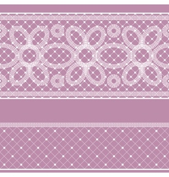 Seamless pattern with lace for design vector