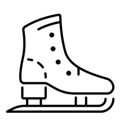 skates boot icon outline style vector image