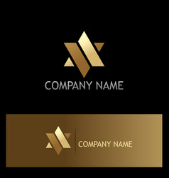 star gold abstract company logo vector image
