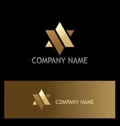 Star gold abstract company logo vector