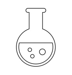 test tube chemistry school line vector image