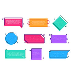 Texting boxes colored quote box speech bubble vector