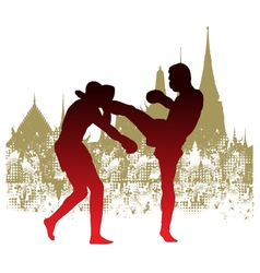 thai boxing vector image