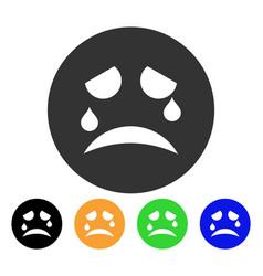 Tiers smiley icon vector
