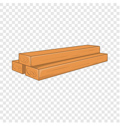Timber planks icon cartoon style vector