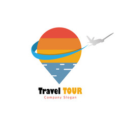 travel and tour logo vector image