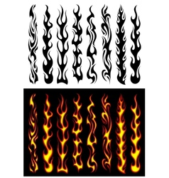 Tribal flames and elements vector image vector image