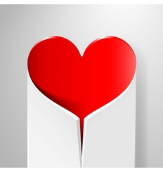 Valentines day card with red wrapped heart vector image