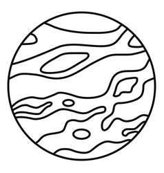 venus planet icon outline style vector image