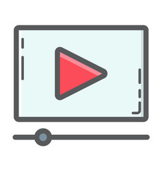 video marketing filled outline icon seo vector image