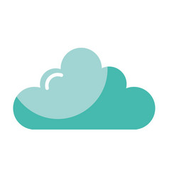 weather cloud isolated icon vector image