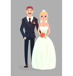 Wedding couple vector image