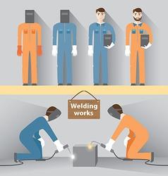 Welding work vector