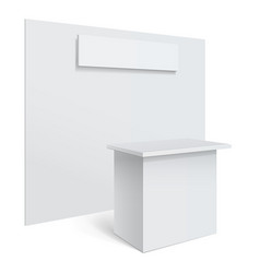 white reception or information desk vector image