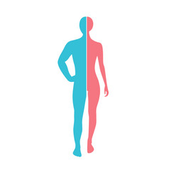 Woman and man silhouette connection man body part vector