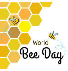 world bee day design template with bees on vector image