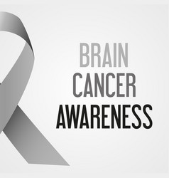 world brain cancer day awareness poster eps10 vector image