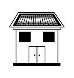 Ecology house isolated icon vector