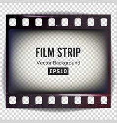 Film strip frame strip blank scratched vector