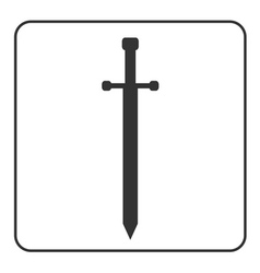 Medieval sword sign isolated vector image