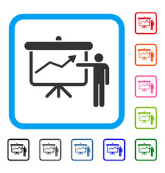 project presentation framed icon vector image vector image