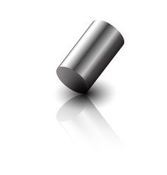 realistic 3d metal cylinder vector image vector image