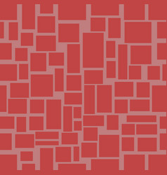 seamless background with red uneven rectangle vector image vector image
