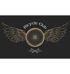 Bicycle Wheel emblem vector image vector image
