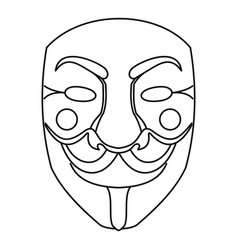 crime mask icon outline style vector image vector image
