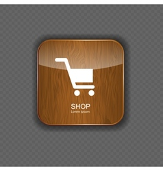 Shop wood application icons vector image