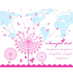 abstract pink Support Ribbon background vector image vector image