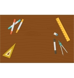 Concept of high school object and college vector image