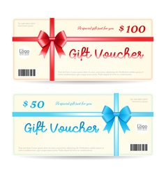 Elegant gift voucher or gift card template vector image vector image