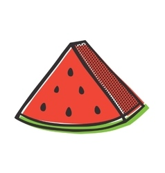 Red watermelon isolated popart vector image vector image