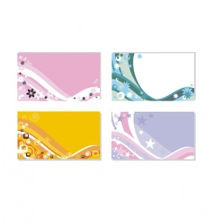 set of horizontal business cards vector image vector image