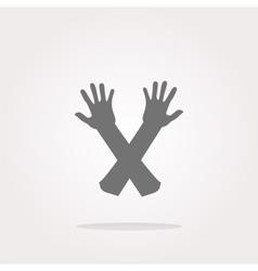 web button hand icon on white Web Icon Art vector image vector image