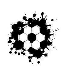 black contour soccer ball icon vector image