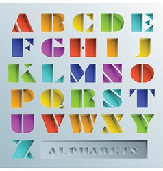 Colorful Hole Alphabets Font Style vector image