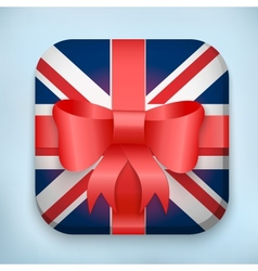 Design British Gift Icon for Web and Mobile vector image vector image