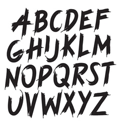 hand-drawn brush style alphabet vector image