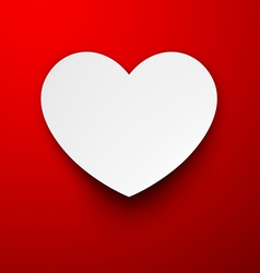 Paper white heart vector image vector image