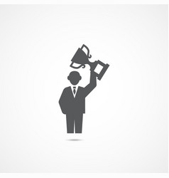 success icon business concept vector image