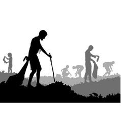 trash scavengers vector image vector image