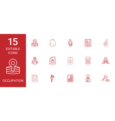 15 occupation icons vector